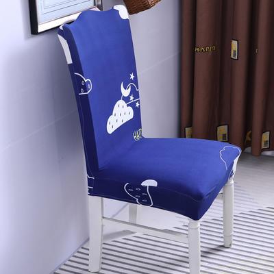 【总】2019弹力连体椅套椅垫椅子套沙发套 印花-如果云知道