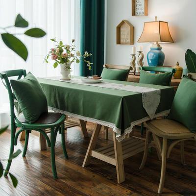 布兰鸟家纺2019新款—棉麻桌布台布餐桌布 90*90cm 绿叶仙魅