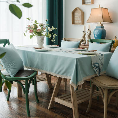 布兰鸟家纺2019新款—棉麻桌布台布餐桌布 90*90cm 自由时光