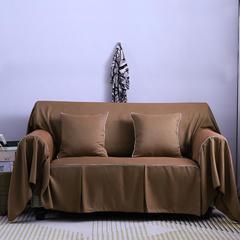 2019款刺绣简约卡通三人沙发巾防滑四季通用型全盖布万能套罩客厅可拆洗 同色45*45抱枕套一只(不含芯) 纯色-摩登时代