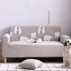 2019款全包万能沙发套沙发罩沙发巾沙发垫30个花型 抱枕套【45*45一只】 卡通-北极熊