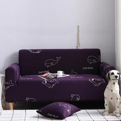 全包万能沙发套沙发罩沙发巾沙发垫30个花型 抱枕套【45*45一只】 印花-深海蓝鲸灵