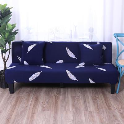 【总】2019款 专用沙发床套全包万能套风格2 抱枕含芯【45*45】一只 印花-羽叶情丝