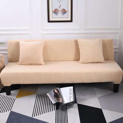 【总】2019款 专用沙发床套全包万能套风格2 抱枕含芯【45*45】一只 纯色-米黄