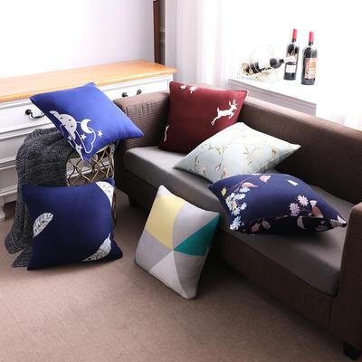 2019款简约现代沙发抱枕靠垫午休抱枕车上抱枕芯午睡办公室客厅卧室家用 抱枕45*45cm(含芯子) 卡通-幸福一家