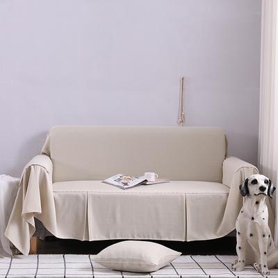 2019新款竹节布沙发巾全盖沙发防灰尘沙发头盖布沙发靠背巾 桌布90*90cm 小米黄