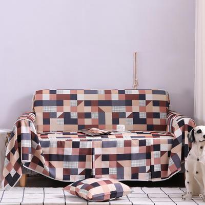 2019新款美式全盖沙发巾 桌布90*90cm/条 格莱美浅咖