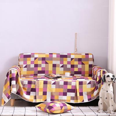 2019新款美式全盖沙发巾 桌布90*90cm/条 格莱美浅紫