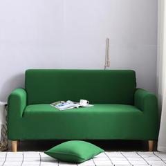 2019款外贸纯色沙发套全包套万能套罩沙发垫沙发巾沙发布 抱枕套【45*45一只】 墨绿