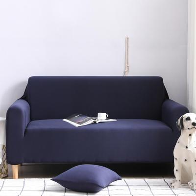 2019款外贸纯色沙发套全包套万能套罩沙发垫沙发巾沙发布 抱枕含芯【45*45一只】 藏青