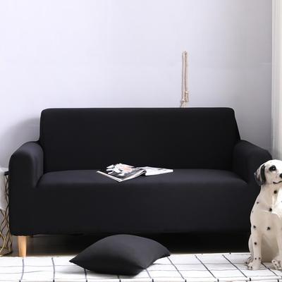 2019款外贸纯色沙发套全包套万能套罩沙发垫沙发巾沙发布 抱枕含芯【45*45一只】 黑色