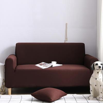 2019款外贸纯色沙发套全包套万能套罩沙发垫沙发巾沙发布 三人190-230cm 咖啡