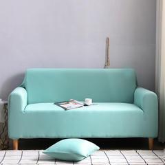 2019款外贸纯色沙发套全包套万能套罩沙发垫沙发巾沙发布 抱枕套【45*45一只】 天空蓝