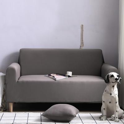 2019款外贸纯色沙发套全包套万能套罩沙发垫沙发巾沙发布 抱枕含芯【45*45一只】 银灰