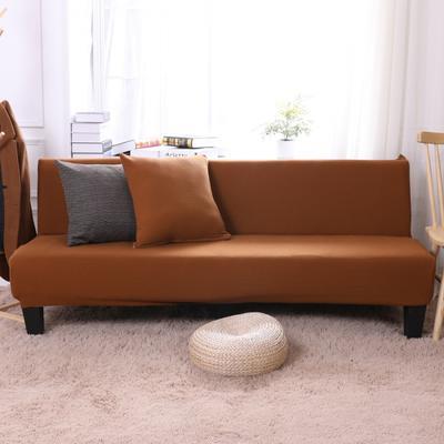 2019新款美人条沙发床套沙发套沙发罩沙发垫套 抱枕套 咖啡色(美人条)