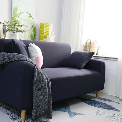 2019新款高端金粒绒品质沙发套全包万能套沙发垫沙发巾沙发罩沙发笠 抱枕套【50*50一只】 金粒绒-藏青蓝
