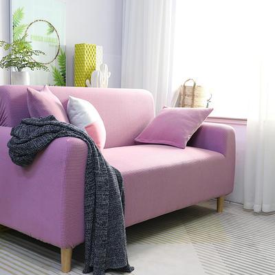 2019新款高端金粒绒品质沙发套全包万能套沙发垫沙发巾沙发罩沙发笠 抱枕套【50*50一只】 金粒绒-月亮紫