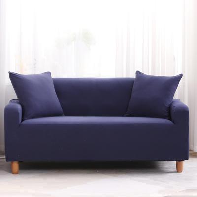 2019款印花沙发套全包套万能套罩沙发垫沙发巾沙发布【专版版权】 同色椅套 藏青