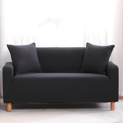 2019款印花沙发套全包套万能套罩沙发垫沙发巾沙发布【专版版权】 同色椅套 黑色