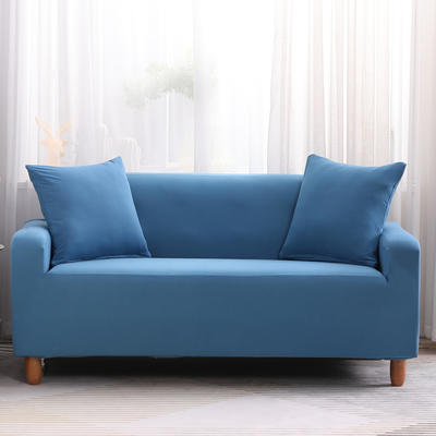 2019款印花沙发套全包套万能套罩沙发垫沙发巾沙发布【专版版权】 同色椅套 湖蓝