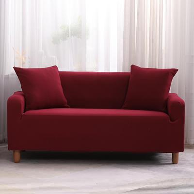 2019款印花沙发套全包套万能套罩沙发垫沙发巾沙发布【专版版权】 同色椅套 酒红
