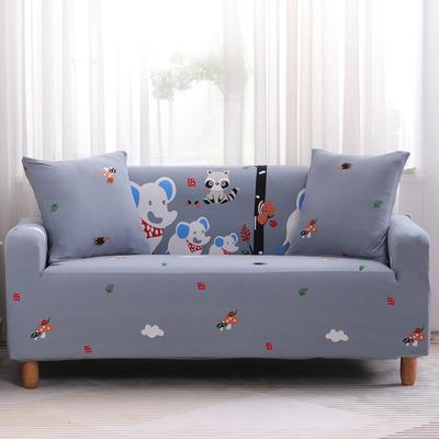 2019款印花沙发套全包套万能套罩沙发垫沙发巾沙发布【专版版权】 同色椅套 快乐小象