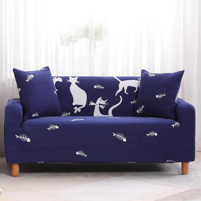 2019款印花沙发套全包套万能套罩沙发垫沙发巾沙发布【专版版权】 同色椅套 时尚猫咪