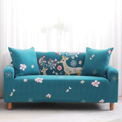 2019款印花沙发套全包套万能套罩沙发垫沙发巾沙发布【专版版权】 同色椅套 幸福一家