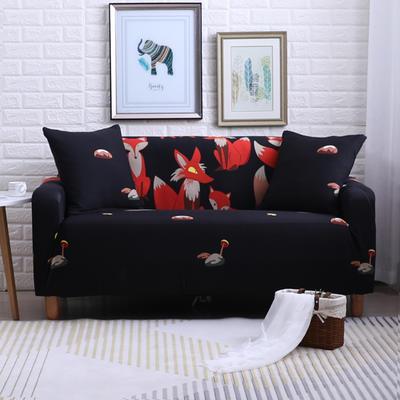 2018款—布兰鸟家纺万能全包沙发套沙发罩沙发垫沙发巾 同色抱枕【45*45一只】 黑夜精灵