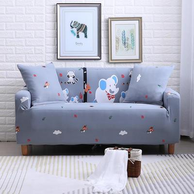 2018款—布兰鸟家纺万能全包沙发套沙发罩沙发垫沙发巾 同色抱枕【45*45一只】 快乐小象