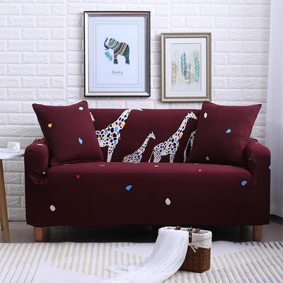 2018款—布兰鸟家纺万能全包沙发套沙发罩沙发垫沙发巾 同色抱枕【45*45一只】 三口之家