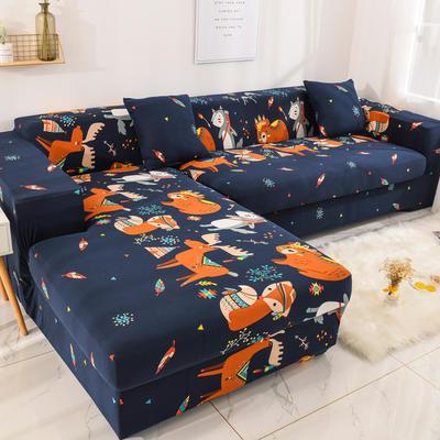 2019高端风格组合L型沙发套全包沙发套罩网红沙发套沙发垫套 同色抱枕【45*45一只】 卡通-挪威森林