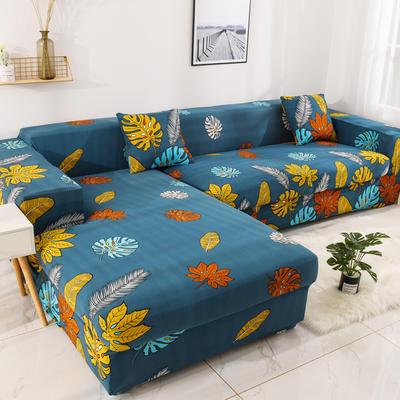 2019高端风格组合L型沙发套全包沙发套罩网红沙发套沙发垫套 同色抱枕【45*45一只】 印花-北欧记忆