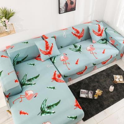 2019高端风格组合L型沙发套全包沙发套罩网红沙发套沙发垫套 同色抱枕【45*45一只】 印花-火鸟青春