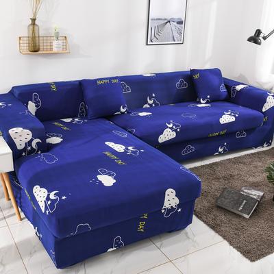 2019高端风格组合L型沙发套全包沙发套罩网红沙发套沙发垫套 同色抱枕【45*45一只】 印花-如果云知道