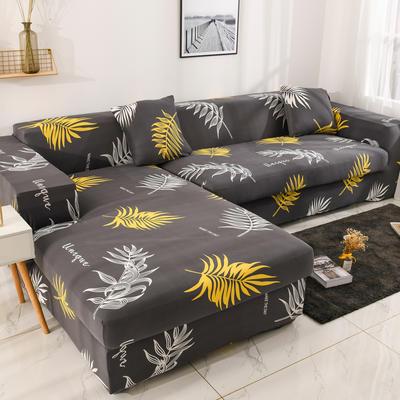 2019高端风格组合L型沙发套全包沙发套罩网红沙发套沙发垫套 同色抱枕【45*45一只】 印花-馨语添香