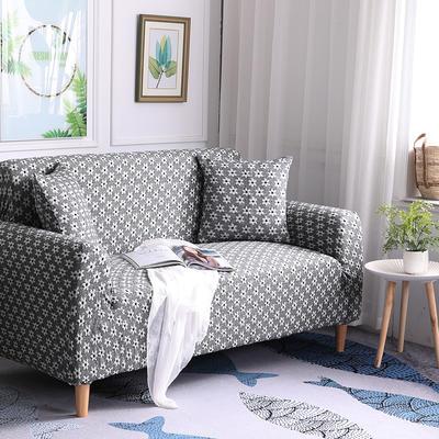 2019新款3D针织彩棉加厚高端沙发套全包万能套弹力罩沙发垫沙发罩沙发布 同色抱枕套50*50cm 3D针织浅黑
