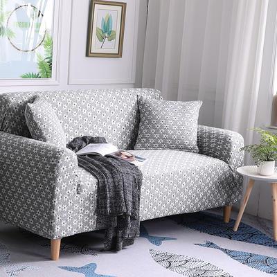 2019新款3D针织彩棉加厚高端沙发套全包万能套弹力罩沙发垫沙发罩沙发布 同色抱枕套50*50cm 3D针织浅灰