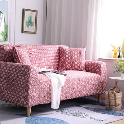 2019新款3D针织彩棉加厚高端沙发套全包万能套弹力罩沙发垫沙发罩沙发布 同色抱枕套50*50cm 3D针织浅酒红