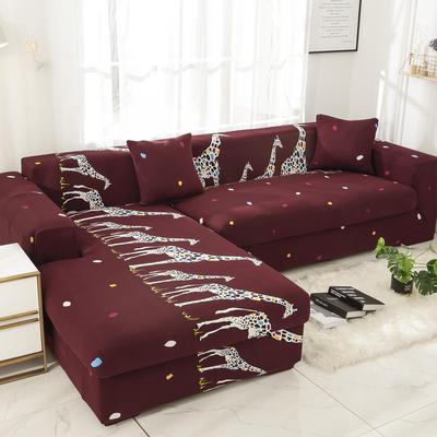2019高端风格组合L型沙发套全包沙发套罩网红沙发套沙发垫套 同色抱枕【45*45一只】 卡通-三口之家