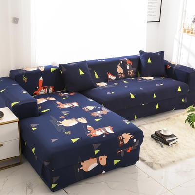 2019高端风格组合L型沙发套全包沙发套罩网红沙发套沙发垫套 同色抱枕【45*45一只】 卡通-音乐晚会