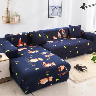 2019高端风格组合L型沙发套全包沙发套罩网红沙发套沙发垫套 同色抱枕【45*45一只】 印花-闭月羞花