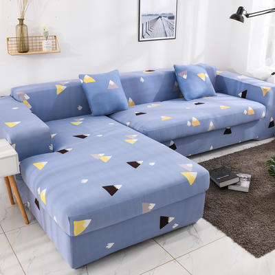 2019高端风格组合L型沙发套全包沙发套罩网红沙发套沙发垫套 同色抱枕【45*45一只】 印花-花花世界
