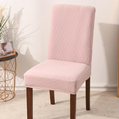 2020新款金針提花裙擺款椅套彈力連體椅子套 跨境外貿專供 金提粉—常規款