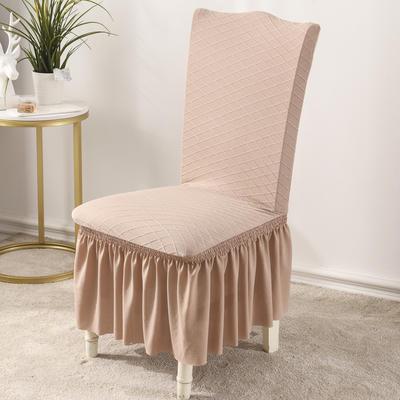 2020款金針提花裙擺款椅套彈力連體沙發套 跨境外貿專供 金提駝—裙擺款