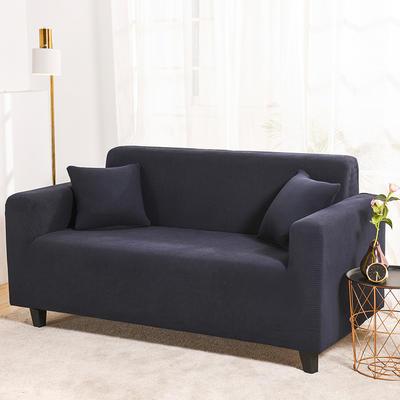 2020新款沙發套全包萬能沙發套罩沙發墊沙發巾玉米粒搖粒絨跨境專供 單人90-140 金粒絨-藏青藍