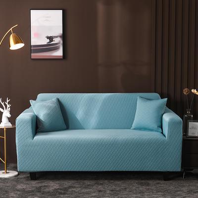 2020新款高端提花沙發套沙發墊沙發巾全包萬能套罩跨境電商專供 單人90-140cm 金提藍