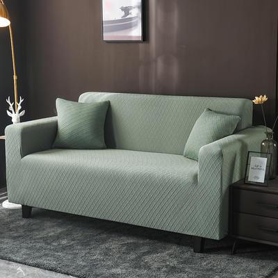 2020新款高端提花沙發套沙發墊沙發巾全包萬能套罩跨境電商專供 單人90-140cm 金提綠