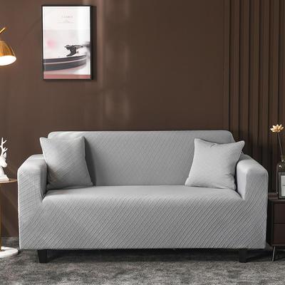 2020新款高端提花沙發套沙發墊沙發巾全包萬能套罩跨境電商專供 單人90-140cm 金提淺灰