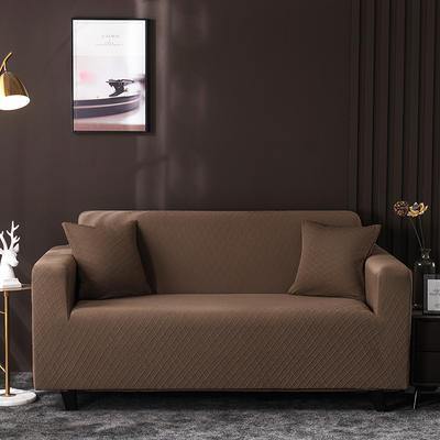 2020新款高端提花沙發套沙發墊沙發巾全包萬能套罩跨境電商專供 單人90-140cm 金提淺咖
